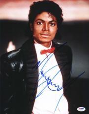 Michael Jackson Signed 11x14 Photo Autographed Psa/dna #s02225
