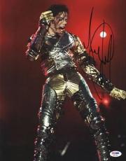 Michael Jackson Signed 11x14 Photo Autographed Psa/dna #s02226