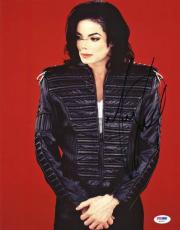 Michael Jackson Signed 11x14 Photo Autographed Psa/dna #s02227