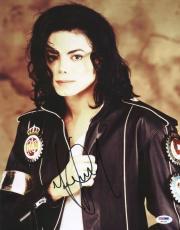 Michael Jackson Signed 11x14 Photo Autographed Psa/dna #s02228