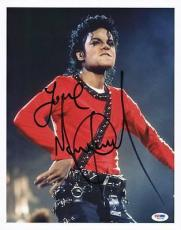 Michael Jackson Signed 11X14 Photo Autographed PSA/DNA #S04246