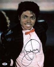 Michael Jackson Signed 11x14 Photo Autographed Psa/dna #t08852