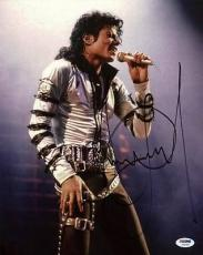 Michael Jackson Signed 11x14 Photo Autographed Psa/dna #u59386