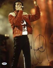 Michael Jackson Signed 11x14 Photo Autographed Psa/dna #v09654