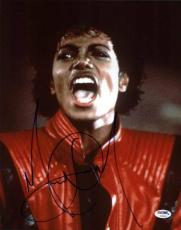 Michael Jackson Signed 11X14 Photo Autographed PSA/DNA #V09656
