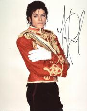 Michael Jackson Signed 11X14 Photo Autographed PSA/DNA #Z05838