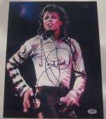 MICHAEL JACKSON Signed 11x14 PHOTO w/ PSA LOA