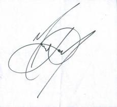 Michael Jackson Signed 7.75X8.5 Cut Autographed PSA/DNA #V07915