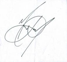 Michael Jackson Signed 7.75X8.5 Cut Autographed PSA/DNA #V07915