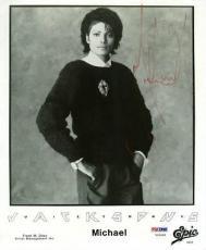 Michael Jackson Signed 8x10 Jackson 5 Photo Autographed Psa #v09668