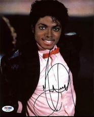 Michael Jackson Signed 8X10 Photo Autographed PSA/DNA #AB10685