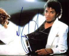 Michael Jackson Signed 8X10 Photo Autographed PSA/DNA #AB10687