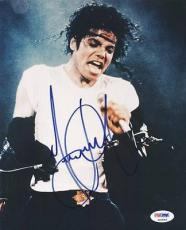 Michael Jackson Signed 8X10 Photo Autographed PSA/DNA #P00894