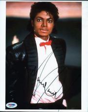 Michael Jackson Signed 8X10 Photo Autographed PSA/DNA #T01007