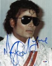 Michael Jackson Signed 8x10 Photo Autographed Psa/dna #t01061