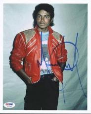 Michael Jackson Signed 8x10 Photo Autographed Psa/dna #u14357