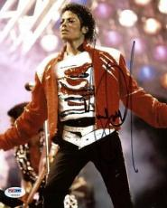 Michael Jackson Signed 8x10 Photo Autographed Psa/dna #v09653