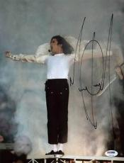 Michael Jackson Signed 9.75x13 Photo Autographed Psa/dna #v09799