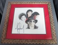 Michael Jackson Signed and Framed Transformation Lithograph RARE