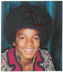 Michael Jackson Signed Autographed 10x12 Photo PSA/DNA Authentic