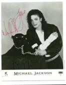 Michael Jackson Signed Autographed 8x10 Promotional EPIC Photo Beckett BAS