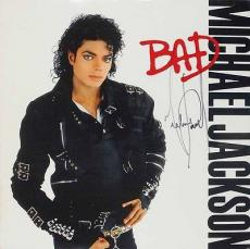 Michael Jackson Signed Autographed BAD Album LP JSA Authentic