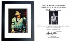 Signed Michael Jackson Photo - 5 The King of Pop 8x10 inch BLACK CUSTOM FRAME Deceased 2009 Guaranteed to pass PSA or JSA