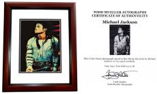 Michael Jackson Autographed Photo - 5 The King of Pop 8x10 inch MAHOGANY CUSTOM FRAME Deceased 2009 Guaranteed to pass PSA or JSA