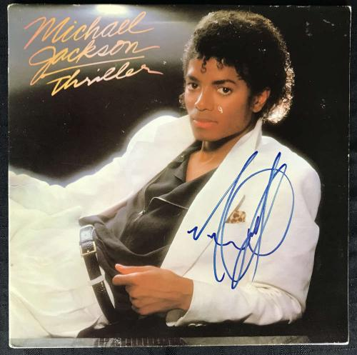 Michael Jackson Signed Autographed Thriller Album Beckett BAS