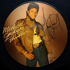Michael Jackson Signed Autographed Thriller Disc Vinyl PSA/DNA Authentic