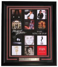 Michael Jackson Signed Framed 16x20 Officially Licensed Album Covers Poster