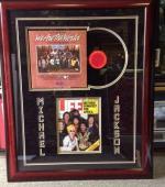 Michael Jackson Signed Life Magazine Framed w/ 'We Are The World' LP PSA