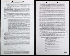 Michael Jackson Signed Standard Songwriter's Contract Dated August 9, 1976 BAS