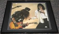 Michael Jackson & Slash in Concert Framed 8x10 Poster Photo