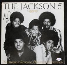 Michael Jackson The Jackson 5 Signed Album Cover W/ Vinyl Psa/dna #s04537