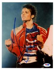 Michael Jackson The King Of Pop Signed 8X10 Photo PSA/DNA #S14601