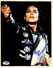 Michael Jackson The King Of Pop Signed 8x10 Photo Psa/dna #s14602