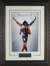 """Michael Jackson """"This Is It"""" Framed 11x17"""" Po"""