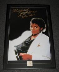 Michael Jackson Thriller Signed Framed HUGE 28x41 Poster Photo Display JSA