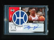 Michael Jordan 2004-05 Upper Deck R-class R-tifacts Player Warm Up Auto #d 42/50