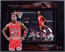 Michael Jordan Chicago Bulls 1988 Slam Dunk Contest Autographed Shadowbox
