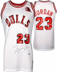 Michael Jordan Chicago Bulls Autographed White Jersey with ROY Patch - Limited Edition of 123