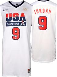 Michael Jordan Team USA 1992 Summer Olympics Autographed White Jersey