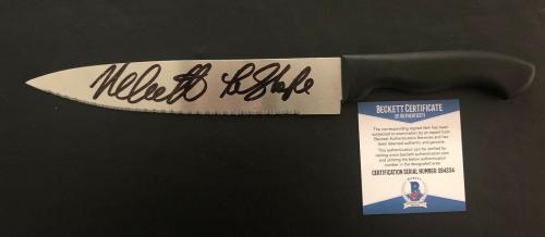 Michael Myers Nick Castle Signed Auto Halloween Knife Beckett Bas Coa 24