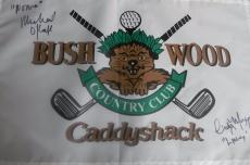 MICHAEL O'KEEFE and CINDY MORGAN DUAL SIGNED CADDYSHACK GOLF FLAG JSA