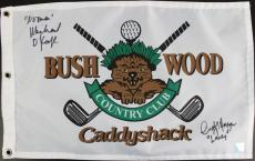 Michael O'Keefe & Cindy Morgan Signed Caddyshack Flag With Ssg COAs