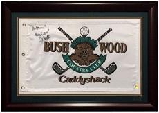 Michael O'Keefe Danny Noonan Signed Framed Caddyshack Golf Flag Pic Signing COA