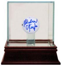Michael O'Keefe signed Bushwood Country Club Caddyshack Golf ball w/ Glass Case- Steiner Hologram