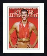 """Framed Michael Phelps Sports illustrated Cover Autographed 16"""" x 20"""" Photograph"""