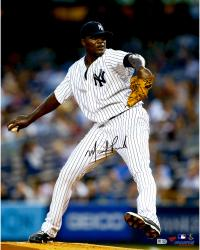 "Michael Pineda New York Yankees Autographed 16"" x 20"" Pushing off the Mound in Pinstripe Jersey Photograph"